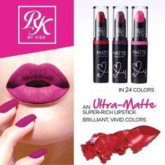 KISS Ruby Kisses Matte Lipstick Brilliant Vivid Colors (Multiple Variety) #KISS