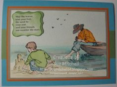 Stampin' Up! Australia - Sue Mitchell: Watercoloured Cards - Stampin' Up, Summer by the Sea (retired)
