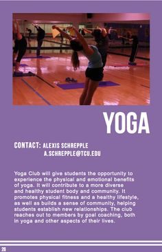 Yoga Club Sports Clubs, Yoga Benefits, Physical Fitness, Physics, Healthy Lifestyle, Wellness, Student, College Students, Healthy Life