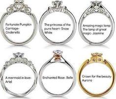 Disney princess rings #wedding