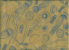 screenprinted sea wallpaper