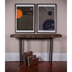 Reclaimed Wood Console Table by PlankandSteel on Etsy, $388.00