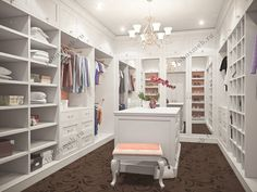 На фото: Роскошная гардеробная комната звезды