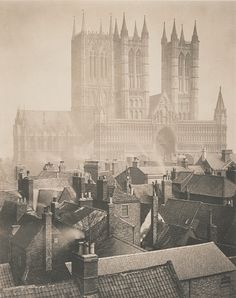 Lincoln Cathedral from the Castle. Frederick Evans (1898)