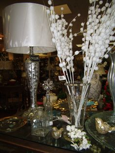 Lamps and floral stems