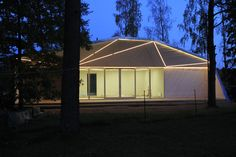 Atelier House lighting up the night