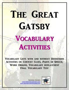 The Great Gatsby help?