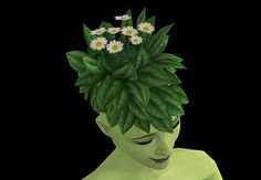 I'm getting worse at preview pictures. :| Anyway, this is my first successful custom hair so please let me know if you find any problems. I replaced the flower saplings on the plantsim hair with...