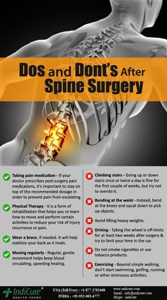 Dos and Don'ts after Spine Surgery - Scoliosis Surgery, Neck Surgery, Scoliosis Exercises, Spine Surgery, Back Pain Exercises, Microdiscectomy Recovery, Surgery Recovery, Acdf Surgery, Spinal Fusion Surgery