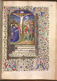 Crucifixion, by the Master of the Linck Hours. c.1430–40