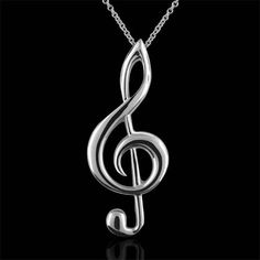 treble clef pendant necklace - Google Search