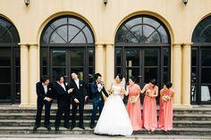 小笠原伯爵邸にて結婚式 Cottie Louのウェディングドレス・Aライン Wedding Gown http://anela-clothing.jp/