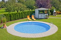Build your own pool A round pool oasis in your own