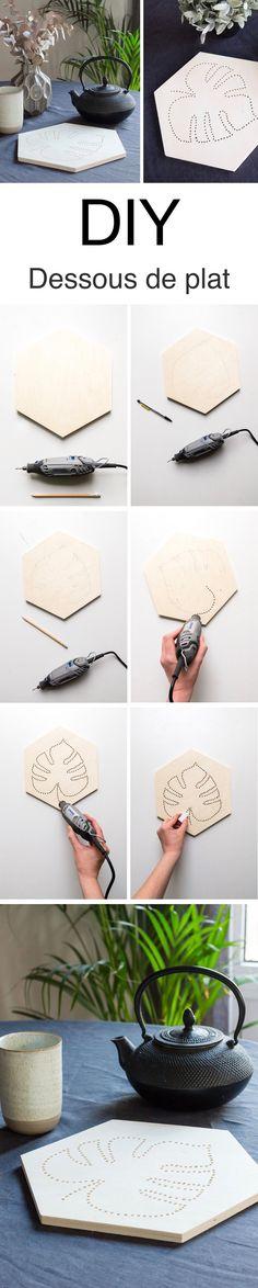 Relooker un plateau de petit déjeuner avec du papier peint DIY