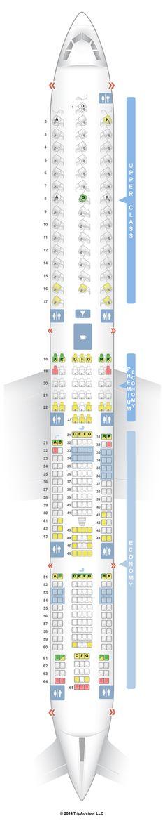 SeatGuru Seat Map Virgin Atlantic Airbus A340-600 (346)