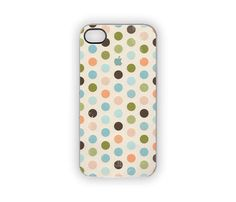 Polka Dots iPhone Case 5S 5 4S 4 Cover Spring by Inspireuart, $21.00