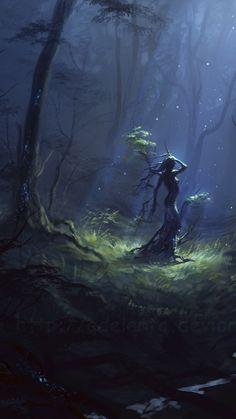 The Goddess Within - novel by Iva Kenaz - Berka turning into a birch tree ( Forever Still :¦: Artist Ulyana Regener)  ☆
