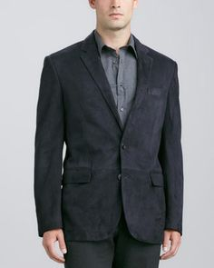 Anthony Suede Sport Coat by Ralph Lauren Black Label at Neiman Marcus.