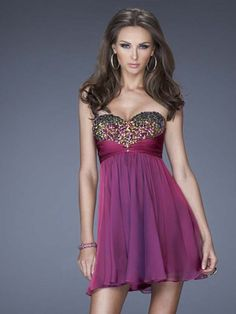 A-line Sweetheart Chiffon Beading Short Prom Dresses/Homecoming Dresses #BK788