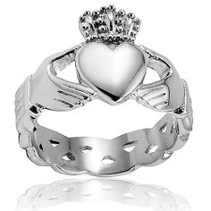 Crucible Stainless Steel Men's Celtic Eternity Claddagh Ring Sale Starts at: $14.73