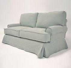 quatrine furniture. Quatrine Custom Furniture - Slipcovered Veranda Sofa #frenchskirt #rolledarms #skirt #slipcovered