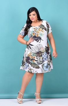 - - Source by elybajana Elegant Midi Dresses, Pretty Dresses, Casual Dresses, Fashion Dresses, Summer Dresses, Luau Party Dress, Plus Size Dresses, Plus Size Outfits, Curvy Fashion