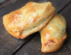 Finger Food - Cajun Meat Pies...frozen puff pastry sheets, andouiille sausage, ground beef, jalapeno pepper, sun dried pesto....