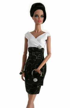Barbie Dress in Black and White by ChicBarbieDesigns on Etsy