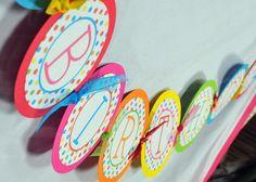 Over the Rainbow Printable Happy Birthday Banner, Rainbow DIY Party Banner, Birthday Girl. $12.00, via Etsy.