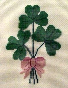 Shamrock Bouquet Cross Stitch Pattern by BonnieThistleDesigns, $7.00