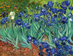 Quadro Íris, Saint-Remy (Irises) de Vincent van Gogh - A marca d'água acima (quadrosetelas.com) não aparecerá no produto final.