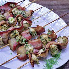Keto Chicken Bacon Ranch Kabobs | Keto Daily
