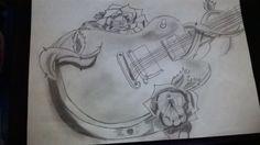 Kytara s růžičkami