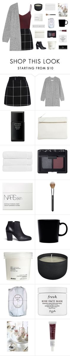 """december rose"" by made-of-starlight ❤ liked on Polyvore featuring WithChic, By Malene Birger, Shiseido, Park House, Christy, NARS Cosmetics, MAC Cosmetics, Giuseppe Zanotti, iittala and Davines"
