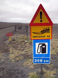 A very remote place in Iceland. It's a long way to the next gas/petrol station.