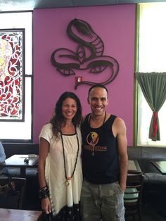 Jen Stock and Michael Baez, Beverly Hills Yoga, at Jivamuktea Cafe in NYC