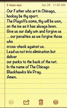 Chicago Blackhawks prayer