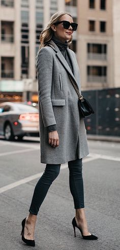 #winter #outfits  grey trench coat