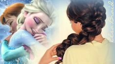 In this Elsa voluminous braid hair tutorial video, learn how to create Disney's Frozen hairstyle. Cute hairstyles for everyday or a wedding. Disney Hairstyles, Disney Princess Hairstyles, Cute Prom Hairstyles, Back To School Hairstyles, Braided Hairstyles Tutorials, Frozen Hairstyles, Hair Tutorials, Pelo Princesa Disney, Frozen Hair Tutorial