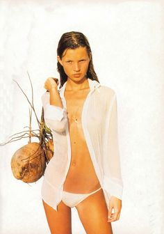 """Borneo"", The Face UK, August 1991Photographer : Corinne Day Model : Kate Moss"