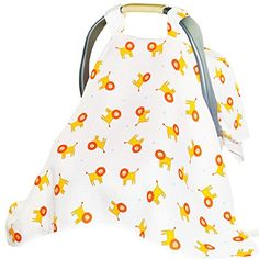 Baby Nursing Cover  Baby Car Seat Covers For Boy Or Girl Baby Car Seat Canopy XL Size 48 Length 36 Wide Multi Use Muslin Baby Stroller Cover is Soft  Breathable It Protects From Sun Bugs  Dust -- Want additional info? Click on the image.