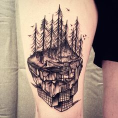 When the nature replace the city's #forest #mountain #skyscrappers #blacktattoo…