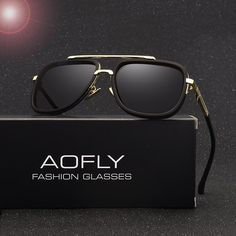 8aa7190f34 AOFLY New Fashion Men Polarized Sunglasses Male Brand Design Polaroid Lens  Luxury Sun Glasses High Quality