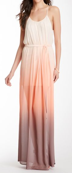 Sunset ombre maxi- I like this idea for a bridesmaid