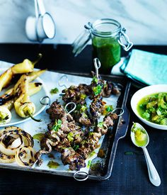 Grilled flank steak with fermented green chilli sauce :: Gourmet Traveller Magazine Mobile