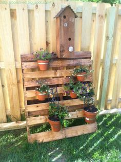 DIY Tiered Plant Stand | convinced hubby to keep old pallet that was used