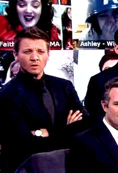 More Jeremy Renner expressions XD reaction gif what even how look at that really