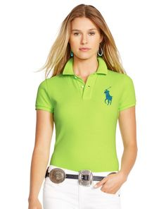Skinny-Fit Big Pony Polo Shirt - Polo Ralph Lauren Polos - RalphLauren.com