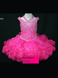 Cupcake style glitz pageant dress by SouthernCharmCreates on Etsy, $220.00