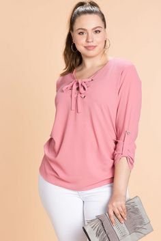 Elora Lace Up BlouseElora Lace Up Blouse